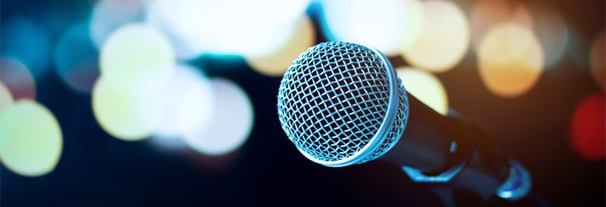 Keynote speaking microphone