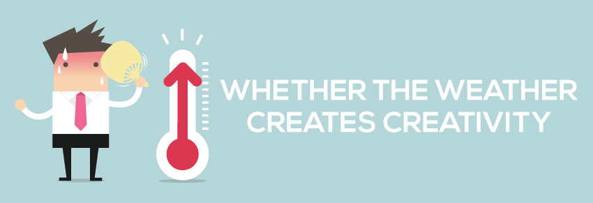 whether the weather creates creativity