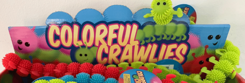 Colourful Crawlies Toys in box