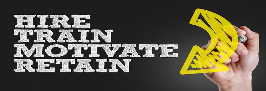 Hire,Train,Motivate,Retain